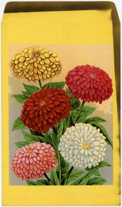 Mixed flower seed packet (UNUSED). FLOWERS - ZINNEAS
