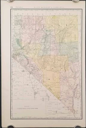 Rand, McNally & Co.'s Business Atlas Map of Nevada