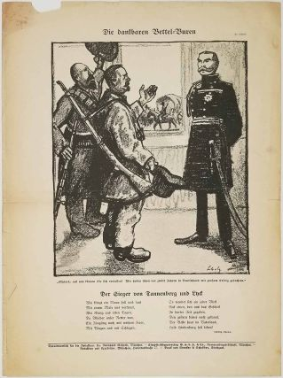 Kriegsflugblaetter des Simplicissimus (War pamphlets of Simplicissimus). Nr. 7. [containing a cartoon lampooning British Colonial attitude]