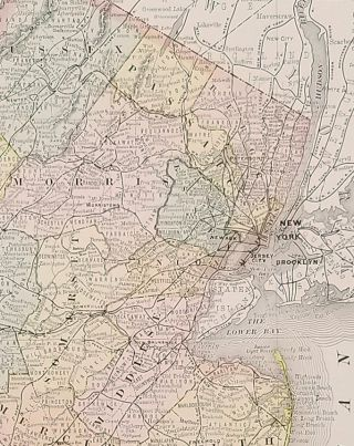 Rand, McNally & Co.'s New Business Atlas Map of New Jersey.