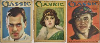THREE MAGAZINES] Motion Picture Classic. January 1922, January 1923 and January 1926. HOLLYWOOD...