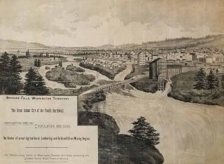 Spokane Falls, Washington Territory. The Great Inland City of the Pacific Northwest. Supplement to the Morning Oregonian.