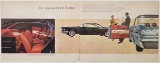 Fresh Point of View from Pontiac 1960. The Only Car with Wide-Track Wheels.