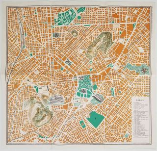 Map of Athens. Plan d'Athenes. GREECE - ATHENS