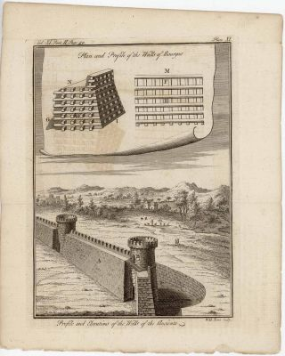 [9 ENGRAVINGS MILITARY WARFARE TECHNIQUES] Double Corvus (or Crane)....Corvus (Cron or Crane) with nippers....Tortoise for filling up....Floating Towers & Galleries....etc.