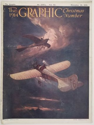 The Graphic Christmas Number, 1914. COMPLETE ISSUE. CHRISTMAS / COLOR PLATES / EARLY AVIATION -...