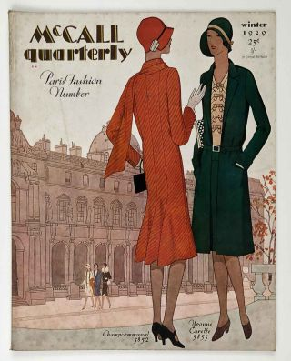McCall quarterly. Paris Fashion Number. Winter 1929. 1920s FASHION - FRENCH INFLUENCE