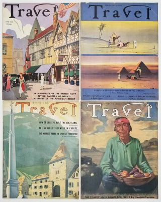 Travel. February, March, June, November 1938. [VINTAGE MAGAZINE - FOUR ISSUES]. CHINA /...