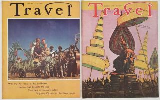 Travel. January and July 1939. [VINTAGE MAGAZINE - TWO ISSUES]. BURMA / COAST GUARD / GREAT...