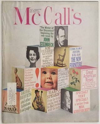 McCall's. May 1961. [including first part of John Steinbeck's THE WINTER OF OUR DISCONTENT]....