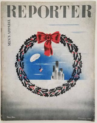 Men's Apparel Reporter. December 1940. [MAGAZINE WITH CHRISTMAS COVER]. FASHION - 1940