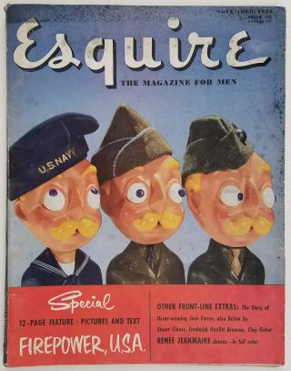 Esquire. The Magazine for Men. November 1951. [VINTAGE MAGAZINE]. KOREAN WAR / WINE, Ray...