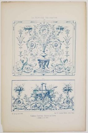 "La Peinture Decorative. [group of SEVEN PLATES in folder titled ""Decorations Malereien""]."