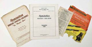Remington Modern Firearms. March 6, 1936 Retail Price List. FIREARMS