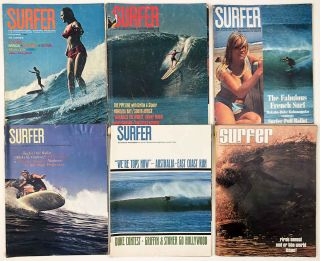 Surfer. The International Surfing Magazine. LOT of six issues