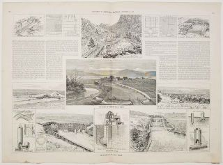 Irrigation in the Arid West. Supplement to Harper's Weekly. September 22, 1888. IRRIGATION -...
