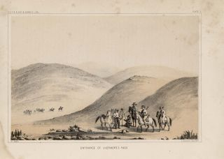 Entrance of the Tejon Pass, Livermore's Pass, Valley of Kah-Wee-Ya River [Four Creeks], Crossing of Chowchillas River [Vintage Pacific Railroad Survey Lithograph]