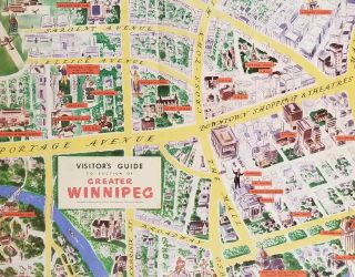 Visitor's Guide to Section of Greater Winnipeg.