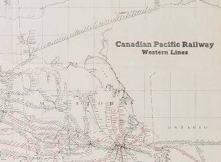Canadian Pacific Railway. Western Lines.