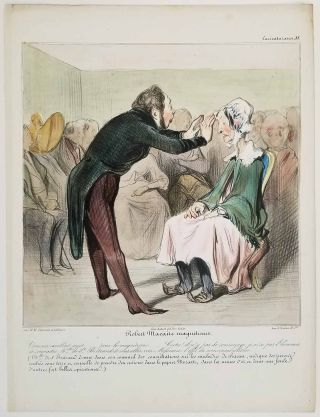 Robert Macaire magnetiseur. Caricaturana 88. CARICATURE - SATIRE OF MANNERS