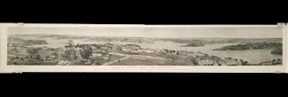 Panoramic View of Sydney, New South Wales. First Settled by Commodore Phillip, January 26, 1788, with 927 Persons. - Population of the Colony, June, 1879 712,019.