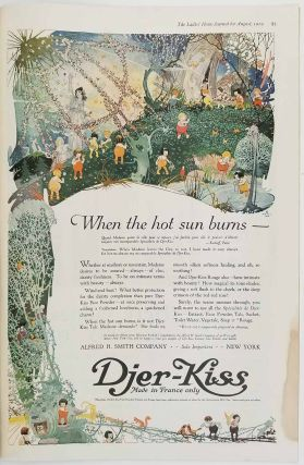 The Ladies' Home Journal. August 1919. PARROT / DJER KISS AD / WORLD WAR I. / FASHION