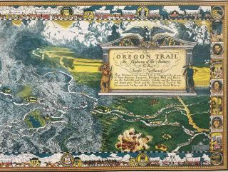 The Oregon Trail. The Highway of the Pioneers to the Pacific Northwest.