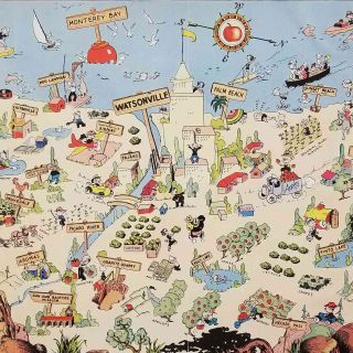 Live, Work and Play in the Beautiful Pajaro Valley. VINTAGE ADVERTISING BROCHURE WITH PICTORIAL MAP.