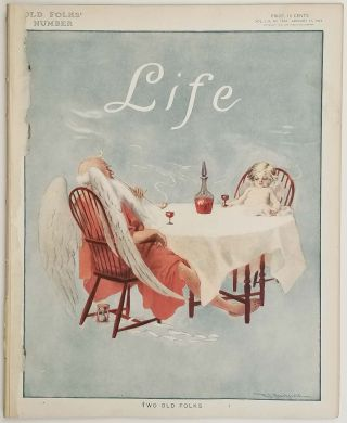 Life Magazine. Janaury 11, 1912. Old Folk's Number. CARTOONS / SOCIAL COMMENTARY