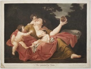 Die Zärtlichkeit der Mutter. (English: The Tenderness of the Mother). MOTHER, CHILDREN - 1803...