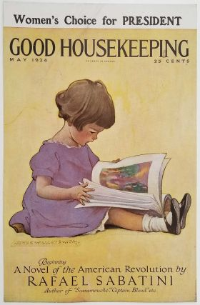 Good Housekeeping. May 1924. STORE ADVERTISING DISPLAY. JESSIE WILLCOX - CHILD READING SMITH