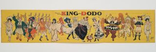 There is no King but Dodo. Poster Postal.