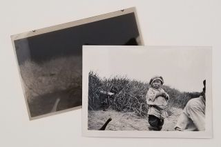 Collection of 99 snapshots in Kodak negative album - scenes in Alaska: hunting activities and...