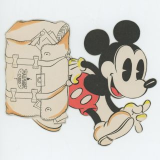 Mickey Mouse Hallmark Die-Cut Foldout Advertising Card. MICKEY MOUSE - DISNEY - HALLMARK CARDS