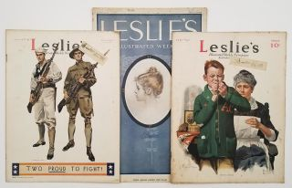 Leslie's Illustrated Weekly Newspaper. SEVEN ISSUES 1911-17.