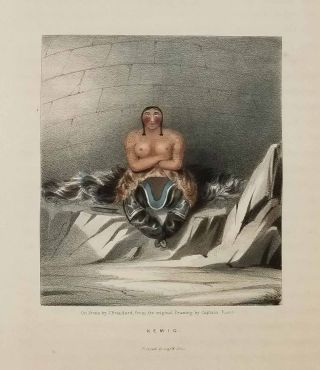 """COLOR LITHOGRAPHS / MEZZOTINTS from """"Narrative of a Second Voyage in Search of a North-West Passage"""" 1834."""