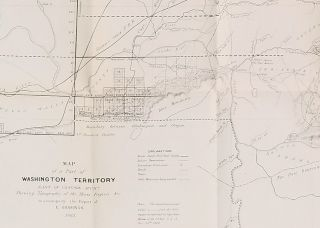 Map of a Part of Washington Territory East of Cascade Mtns Showing Topography of the Mines Region &c. to accompany the Report of E. Giddings. 1862.