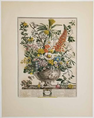 March. May. July. October. December. FIVE VINTAGE REPRODUCTION FURBER PRINTS.