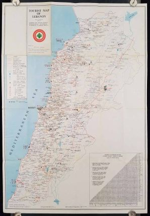 Tourist Map of Lebanon with Different Aspects. Summer and Winter Resorts - Archeological - Historical - Economical & Administrative. / Liban: Terre d'Histoire et de Legendes.