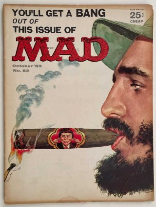 Mad (magazine). Early 1960s. LOT OF 15 MAGAZINES.