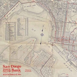 San Diego California. Street Guide and Automobile Road Map of San Diego City, County & Imperial Valley.
